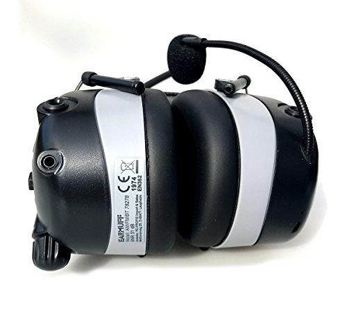 2017 DS-Alert EARMUFF dynamischer 31dB Gehörschutz mit BLUETOOTH und Surround Umgebungswahrnehmung - Extra robuster Radio Kapsel Gehörschutz Kopfhörer mit SmartPhone Anschluss inkl. AUX Kabel - 5