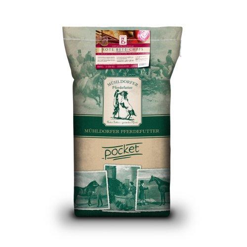 Mühldorfer Futter-Chips für Sport- und Freizeitpferde, Getreidefrei, Rote Bete Chips, 7 kg