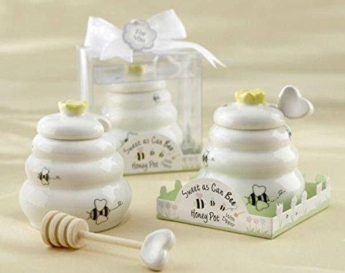 Porzellan Honigtopf mit Holzdipper für Honig