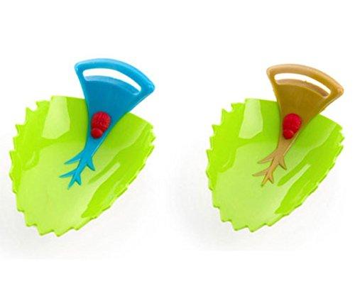 Little Sporter Wasserhahn Verlängerung Blätter Design Wasserhahn Waschtischarmatur für Kinder Baby Hilft Kleinkind Händewaschen 2Pcs