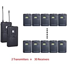 ZLWUS 800R Tour Guide System , UHF794~806MHz Digital AudioGuias y AudioGu¨ªas (2pc Transmisors + 30pc Auricular)Para Ense?anza Visiting and Conference(Gris)