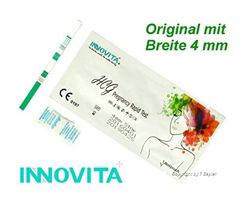 INNOVITA Schwangerschaftstest ~ HCG 10mIU/ml ~ Original mit Breite 4 mm ~ Menge wählbar (30)