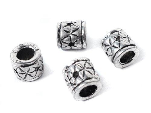"""Metallperlen Spacer """"Röhre"""" 9 x 8,5 mm - 5 Stück"""