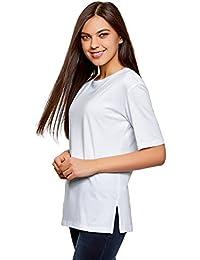 oodji Ultra Femme T-Shirt Ample à Col Rond sans Étiquette