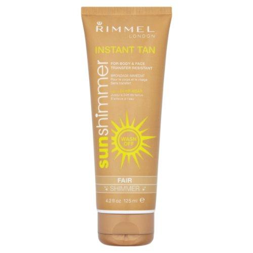 Rimmel Sunshimmer - 24 ore istantanea Tan per corpo e viso - fair shimmer 125ml
