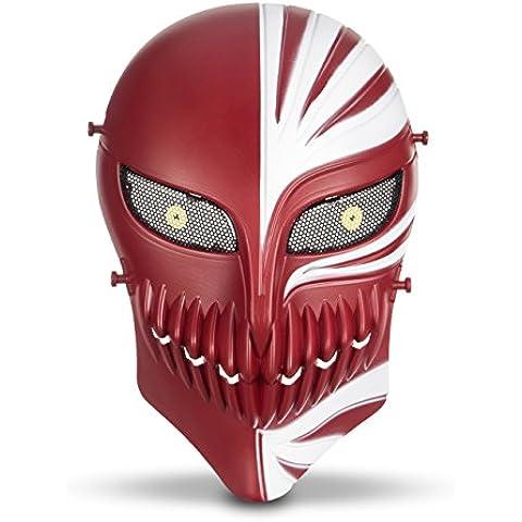 HanLuckyStars Máscara Táctica Protectora para Airsoft Máscara de Esqueleto para Airsoft / Paintball / BB pistola / CS Fiesta de Halloween Juego de Guerra