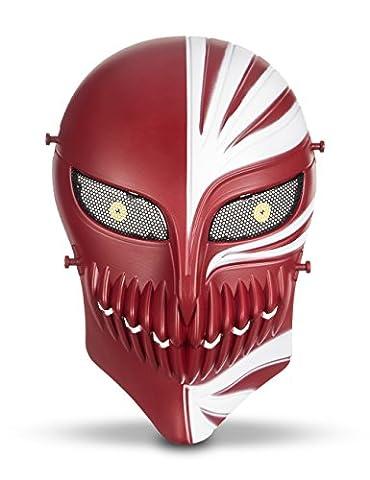 Protection de Masque Airsoft Mort Crâne Squelette Masque Complète pour Airsoft/ Paintball/ BB Gun/ CS Wargame Déguisement Halloween Party Cosplay