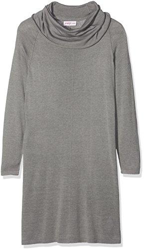 Sheego Damen Casual Kleider Strickkleid mit Rollkragen, Grau (Grau Grau Meliert), 48