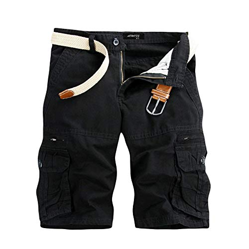 Pure Color Shorts Männer Casual Pure Color Outdoor Pocket Strand Arbeitshose Cargo Shorts Hose Joggen und Training Shorts Taschen Strand Arbeit Hosen Cargo Pant -