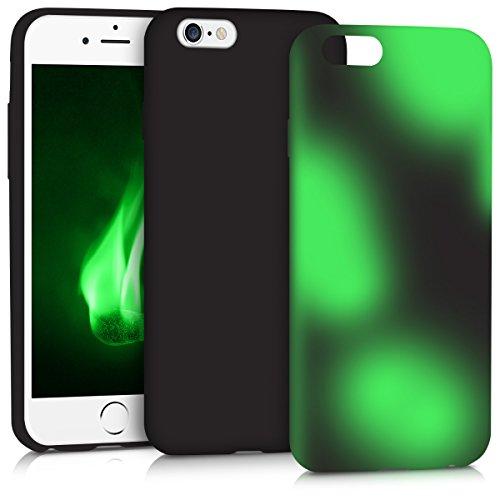 kwmobile Hülle für Apple iPhone 6/6S - TPU Silikon Backcover Case Handy Schutzhülle - Cover Farbwechsel Schwarz Grün