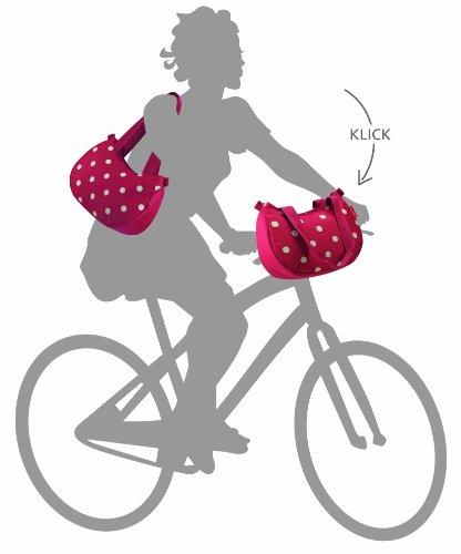 KLICKFix Damen Lenkertasche Stylebag Ruby Dots