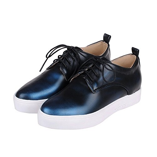 Pumpen Innen Polyurethan Erhöhen Schuhe Damen Blau Adee wPqaIU0xE