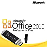 Microsoft® Office Professional 2010 Plus ISO USB. 32 bit & 64 bit - Original Lizenzschlüssel mit USB Stick von Badge Art®
