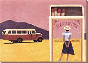 Havanita tendue Impression sur toile Poster par Elio Ciol, 28x 20
