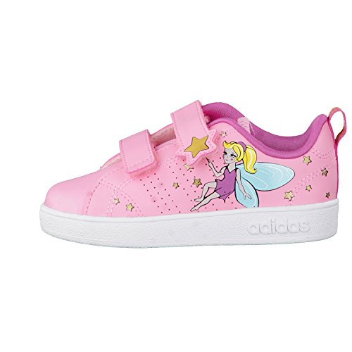 adidas Vs Advantage Clean, Chaussures de Fitness Fille Rose