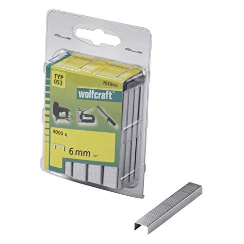 Wolfcraft 7016000 4000 Klammern breit, Stahl Typ 53 6 mm -