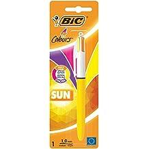 BIC 949898 4 Colours Sun 4-Farb-Druckkugelschreiber (0, 4 mm Blister À) 1 Stück