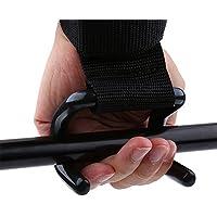 Alomejor Gewichtheben Handgelenk Unterstützung, Gym Klimmzugstange Handgelenk Gurte mit Doppelter Haken