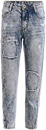 Gulliver, jeans da ragazzo, da bambino, con motivo a strappi, età: 8-13 anni, 134-164 cm