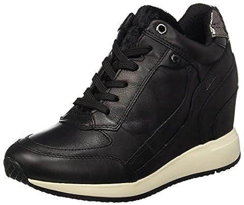 Geox D Nydame A, Sneakers Hautes Femme, Schwarz (BLACKC9997), 37 EU