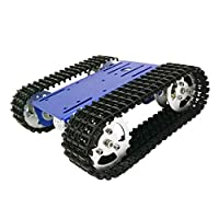 Almencla T101 Smart Robot Tank Chassis Tracked Car Platform DIY Robot Toy Part-Blue