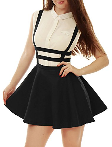 allegra-k-lady-elastic-waist-zip-back-cut-out-detail-suspender-skirt-black-s-uk-8-black