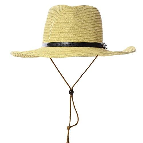 WYJW Mütze Sonnenhut Männer mittleren und höheren Alters Strohgeflecht Sonnenschutz Schweißband Outdoor, 4 Farben Optionaler Sonnenhut (Farbe: 2#) (Fedora-hüte Für Männer Mittleren)