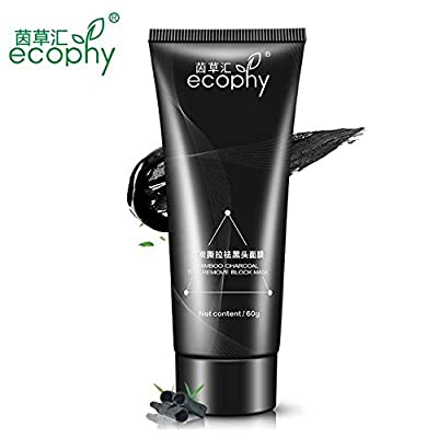 Blackhead Remover Charcoal Activated Peel Off Face Mask For Blackheads by Ecophy®. 60ml Bottle
