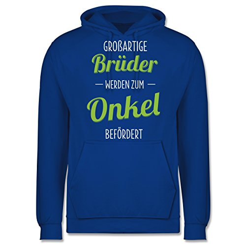 Bruder & Onkel - Großartige Brüder werden zum Onkel befördert - Männer Premium Kapuzenpullover / Hoodie Royalblau