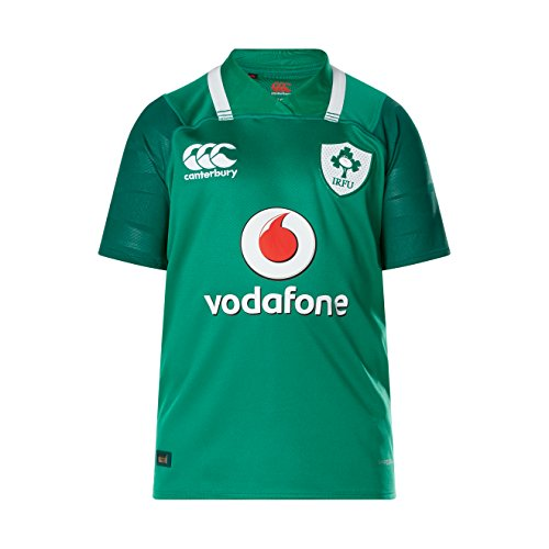 Canterbury Offizielles Irland Rugby 17/18 Vapodri+ Heim Pro Kurzarm Trikot, Bosphorus Grün, 12