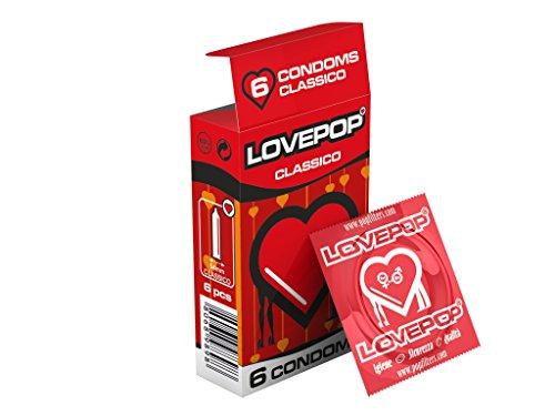18 preservativos Love Pop, clásico 3 cartones de 6 piezas de condones, preservativos clásicos de diámetro 54 mm, condón… 2 Sexo seguro, condones y contenido erótico | Más de condones