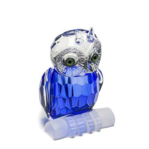 H y D Mini cristal azul de búho adorno de diseño de figura de colección de la mesa centro de mesa