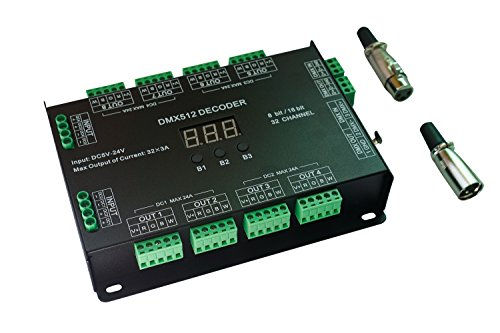 32 Channel 96A RGBW DMX 512 LED Decoder Controller DMX Dimmer DC5-24V RGBW RGB LED light 8 Bit/16 Bit