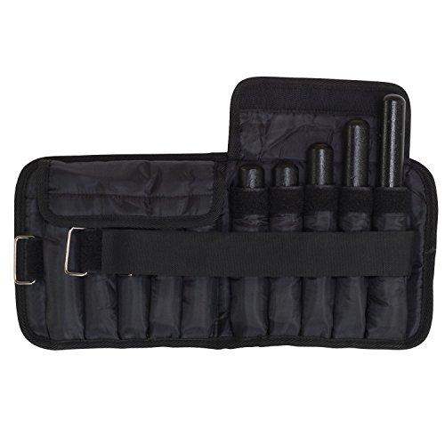 Body Solid Tools Knöchelgewichte, 1 Paar, schwarz, 10-Pounds