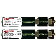 Komputerbay KB_8GB_2X4GB_800_FBECC_MAC_HS - Módulos de memoria FB-DIMM con disipadores de calor para ordenadores Apple, 8GB (2x4GB) DDR2, PC2-6400F, 800MHz, ECC Búfer Completo (240 pines)