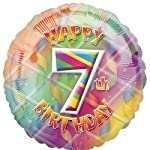 "Anagram Age 7/7th Happy Birthday 17"" Foil Balloon"