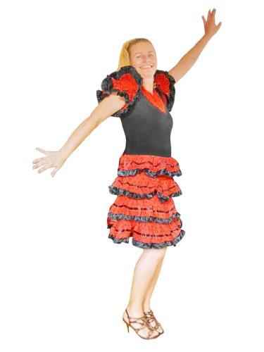Seruna To41 Flamenco Kleid Tänzerin Kostüm für Frauen Fasching ()