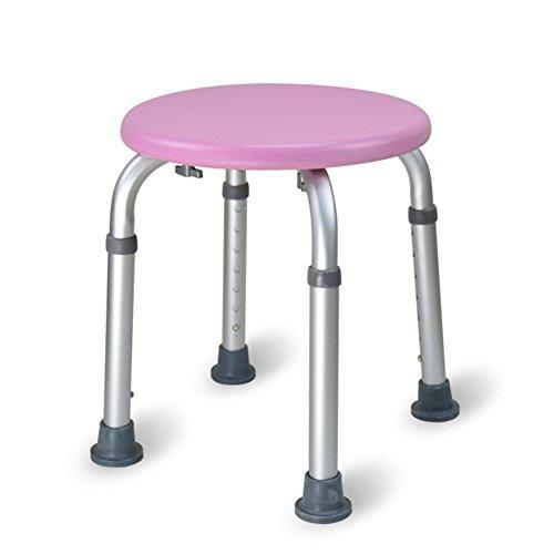 TSAR003 Duschhocker Round - Einstellbare Badewanne Sitz Für Bad Sicherheit Und Rasur - Heavy Duty & Lightweight Für Ältere Menschen, Senior,Pink