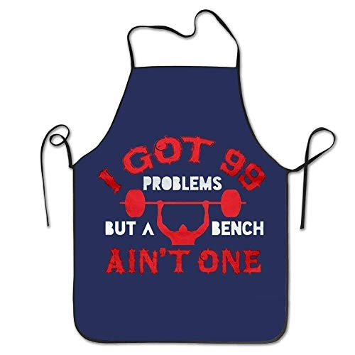 dfhfdshfdshsd dfhfd Delantales,Delantales para barbacoas y ahumadores,bevoicep I Got 99 Problems But Bench Ain't One Aprons Women's Fashion