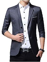 Sanke Herren Slim Fit Blazer Jacke Lässig EIN Knopf Leichte Blazer Anzug  Mantel faf501d0ef
