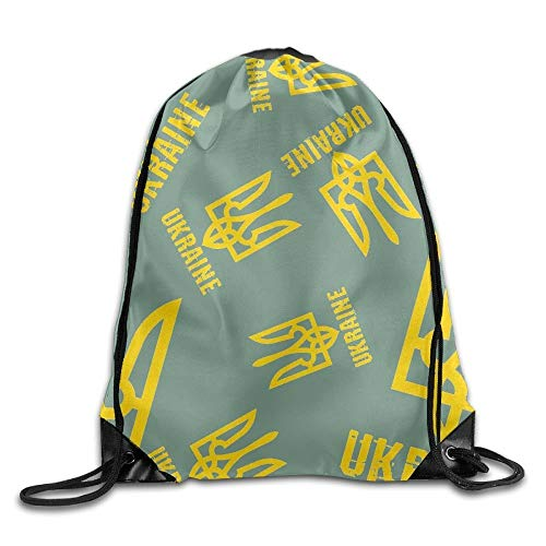 DHNKW Ukraine Coat of Arms Unisex Lightweight Backpack Gym -