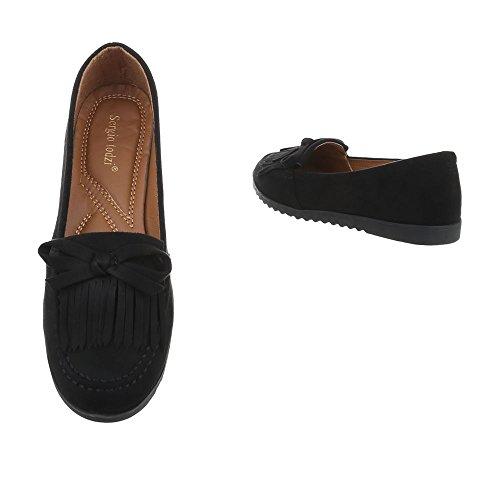 Pantofola Slitta Ital-design Pantofola Pantofola Tacco Basso Nero T175