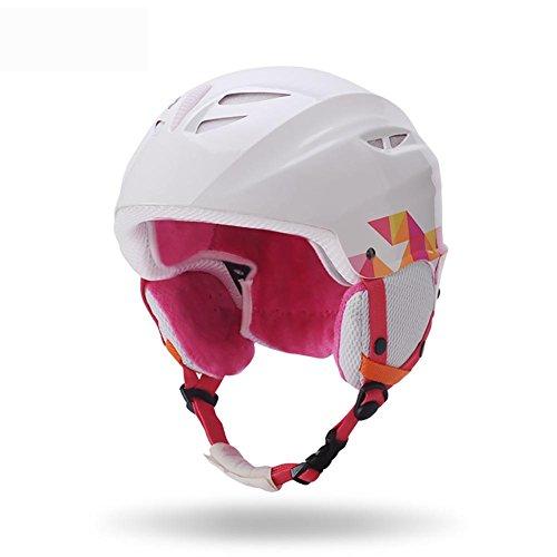 MIAO Skihelm/Snowboardhelme - Outdoor Männer und Frauen Winter warme, atmungsaktive Skischutz , white Combo Winter Liner