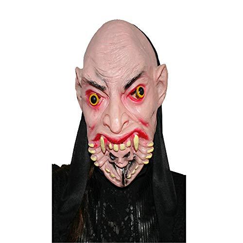 QHJ Halloween Maske, Halloween Accessoires Halloween Party Cosplay Maske Terror Maske Geistermaske Big Face Ghost Messer Gesicht Geist (C)