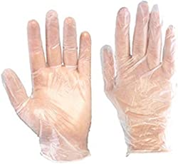 Aurum Creations 500 Pcs(250 Pair) Disposable Transparent Clear Plastic Gloves