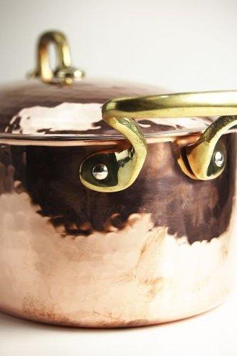 CopperGarden® Bräter aus Kupfer ❁ 40 cm groß ❁ 5 Liter ❁ mit Deckel und Griffen