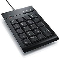 CSL - Numpad/Keypad inkl. Mulitmediatasten | USB-Nummerntastenfeld | Nummernblock/Zusatztastatur | 3 Multimedia Keys | 19 Tasten | für Laptop, Ultrabook, Netbook + Desktop PC | schnurgebunden