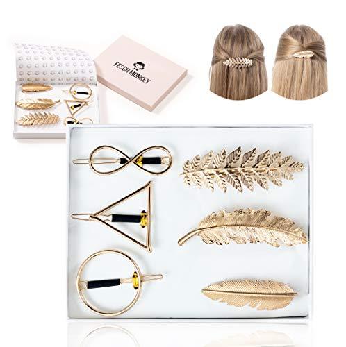 Fesch Monkey® - Rutschfeste Haarspangen Damen - bezaubernder Haarschmuck - beliebte Haarklammern Damen - Haarstyling für Anlässe jeder Art