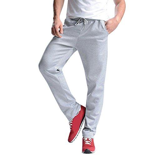 Cebbay Liquidación Pantalones de chándal para Hombres Algodón Delgado de Bolsillo Largo Pantalones de chándal campeones de Estilo Urbano(Gris, EU Size L = Tag XL)