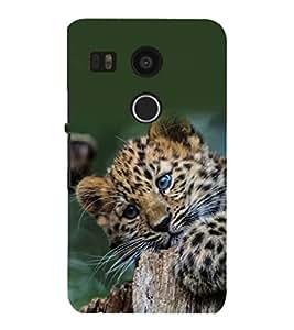 printtech Leopard Cub Cute Back Case Cover for LG Google Nexus 5X::LG Google Nexus 5X (2nd Gen)